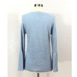 J. Crew Sweaters - J Crew Peplum Sleeve V-Neck Sweater Size Medium
